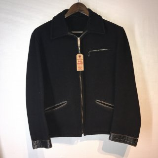 50'S HERCULES Melton Wool Leather Tracker Jacket