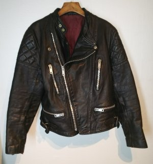 Wolf Leathers stand Collar Riders Jacket
