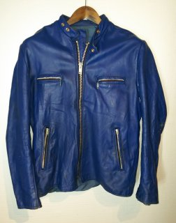 70's Stand Collar Riders Leather Jacket