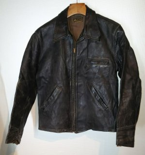 50's Leather Car Coat Jacket