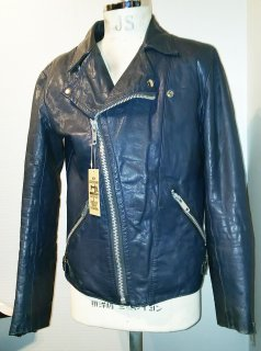 70's Navy Riders Leather Jacket