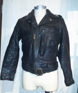 50's Harley Davidson Riders Leather Jacket  Cycle Champ