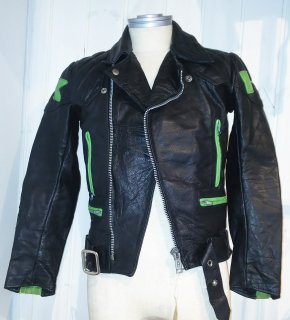 70's TT LEATHERS Riders Jacket KAWASAKI