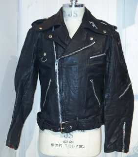 80's MEDE IN Sweden Paint double riders jacket DESTRUC-JACKET