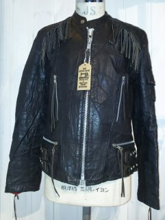 80's Campri Splicing fringe riders jacket