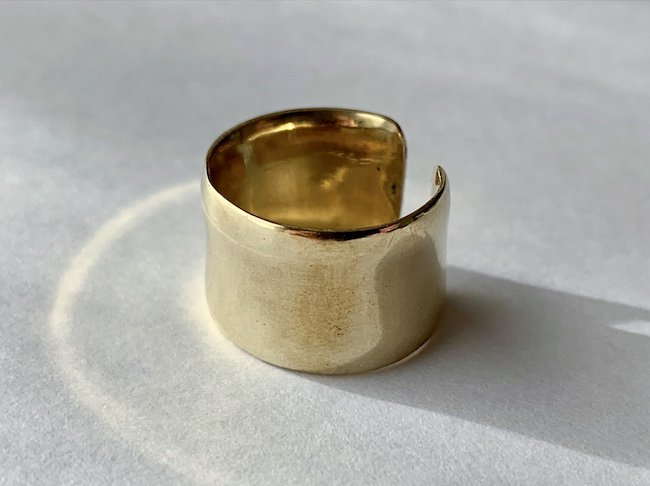 真鍮の艶やかな指輪 / 12.0mm