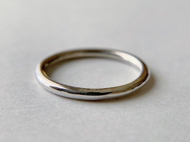 丸線の銀の指輪 / 2.0mm