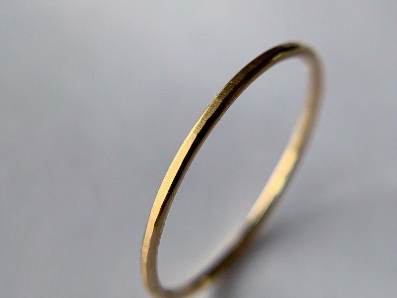 無垢の18Kの指輪 / 1.0mm