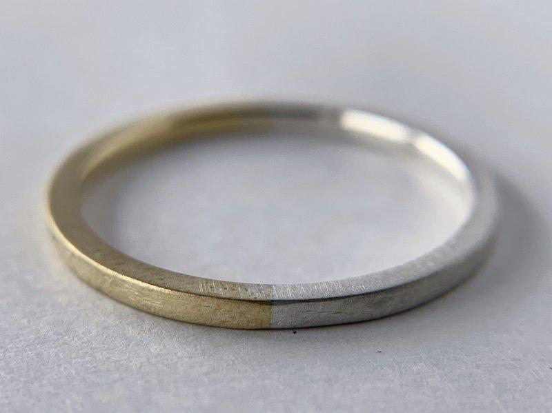 (新)銀と真鍮の指輪 / 1.5mm