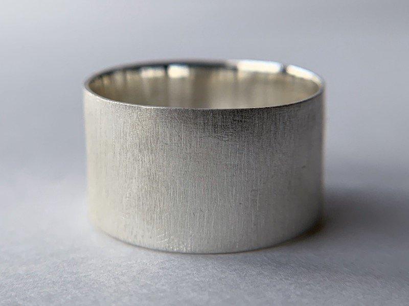 銀の板の指輪 / 10.0mm