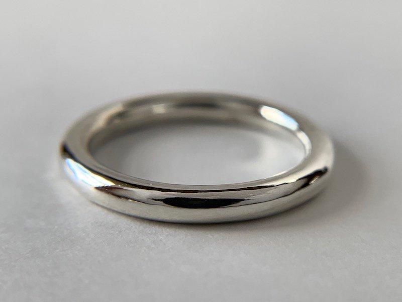 銀の丸線の指輪 / 2.5mm