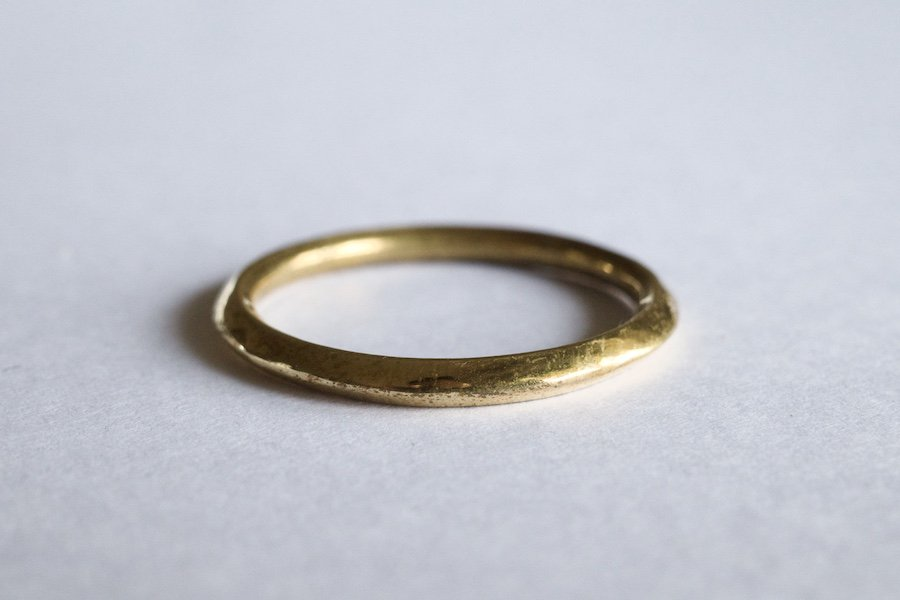 真鍮の角張った指輪 / 2.0mm