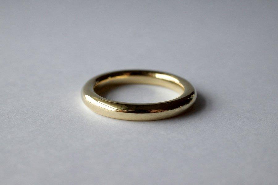 真鍮の丸線の指輪 / 3.0mm