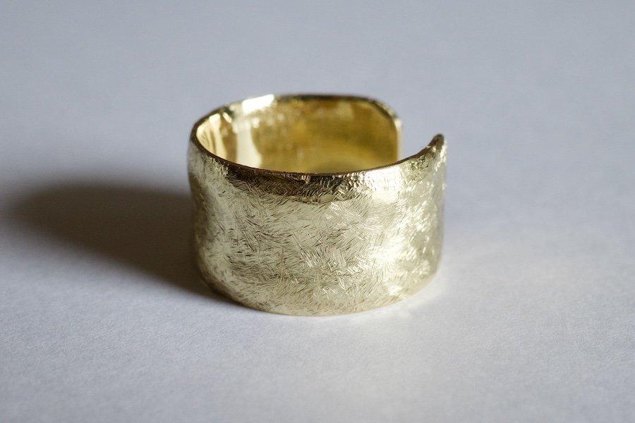 真鍮の大振りな指輪 / 12.0mm