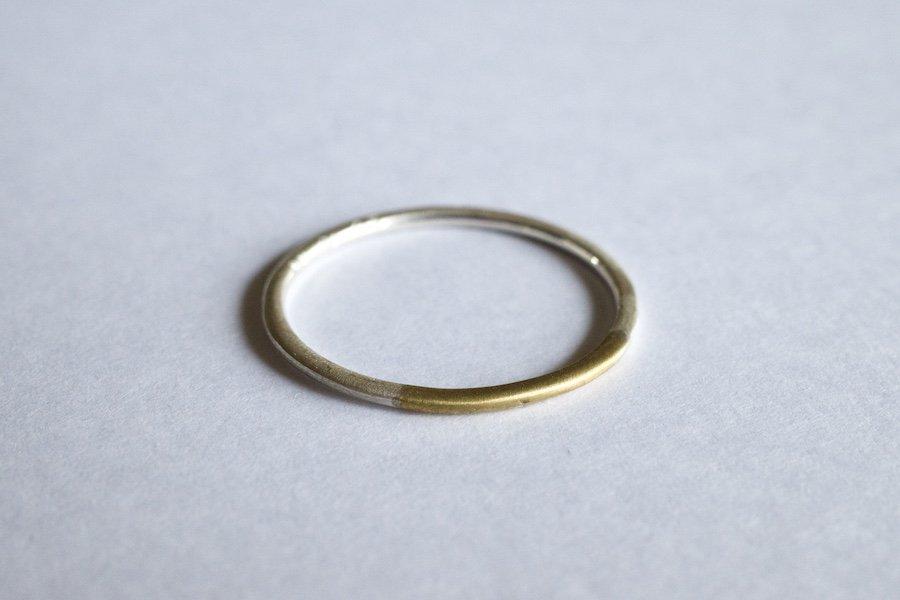 銀と真鍮の指輪 / 1.0mm