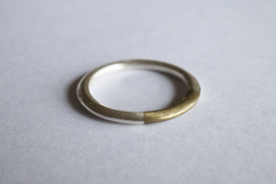 銀と真鍮の指輪 / 1.5mm