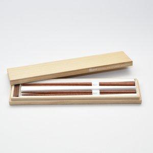 三角箸 桐箱ギフトセット 箸置き付 マラス