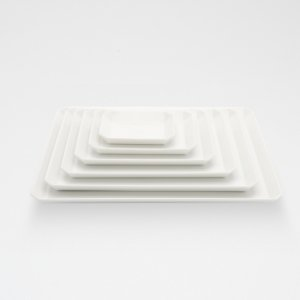 TY Square Plate / White / 90