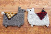 Fair Trade ウール手編み・リャマのポーチ(ネパール/2色)