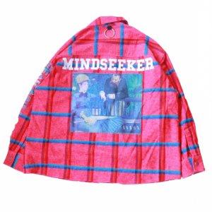MINDSEEKER / MANE RAINBOW CHECK LONG SLEEVE SHIRT