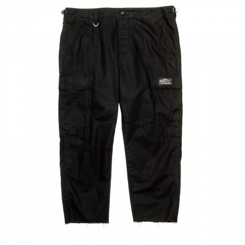 uniform experment / HEM CUT OFF CROPPED CARGO PANTS