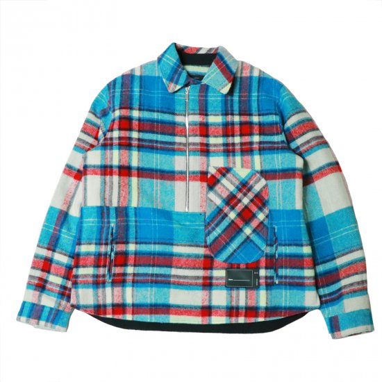 WE11DONE / WD CHECK ANORAK WOOL SHIRT
