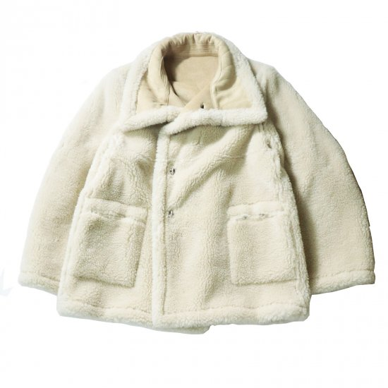 WE11DONE / BEIGE DOUBLE SHEARING LOGO EMBOSSED JACKET