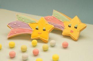 流れ星のアイシングクッキー