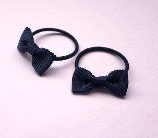 リボンゴム-グログラン紺(2個セット)