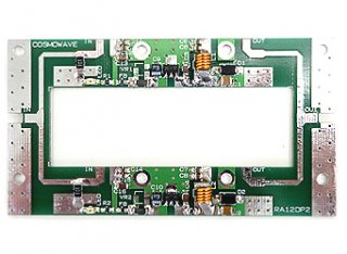 1.2GHzパワーアンプ パーツ実装基板2合成(RA18H1213G×2)