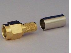 SMAP-58A RG58 圧着タイプ 同軸ケーブル用 SMA型オス・コネクター