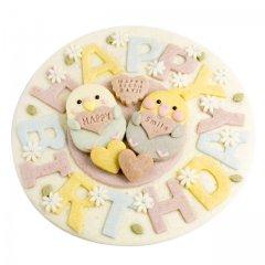 特大プレートクッキー お誕生日(とりさん)