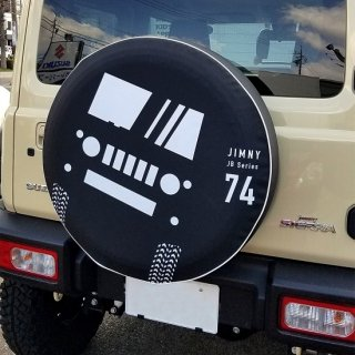 スペアタイヤカバー 74(普通車)用/シルエット