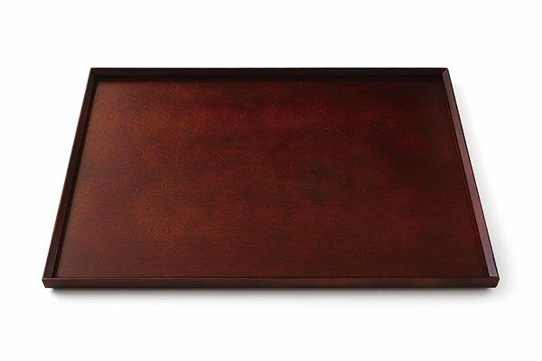 スタッキングトレー 茶色 42cm 長