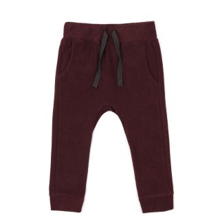 phil&phae / Frotte drop-crotch pants / aubergine