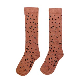 <img class='new_mark_img1' src='https://img.shop-pro.jp/img/new/icons14.gif' style='border:none;display:inline;margin:0px;padding:0px;width:auto;' />maed for mini / Knee Socks / Brown Sahara Leopard AOP