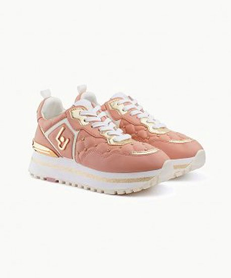 Matelassé Platform Sneakers(Rose)