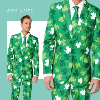 OPPO SUITS パーティスーツ 目立つ 派手 アゲアゲ パリピ 【St Patrick's Day Clovers】 正規品 パーティー クラブ スーツ 送料無料