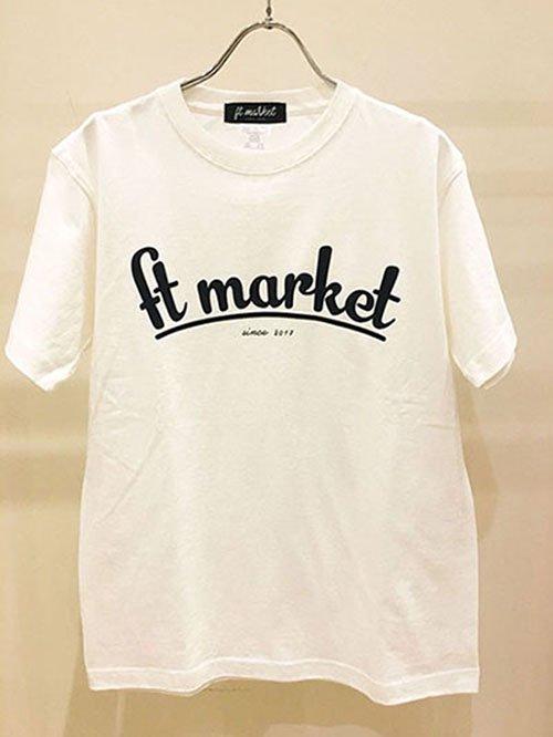 FT MARKET ロゴTシャツ(ホワイト)
