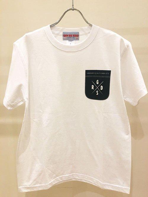GROW RISE DESIGN  ポケットプリントTシャツ(ホワイト)