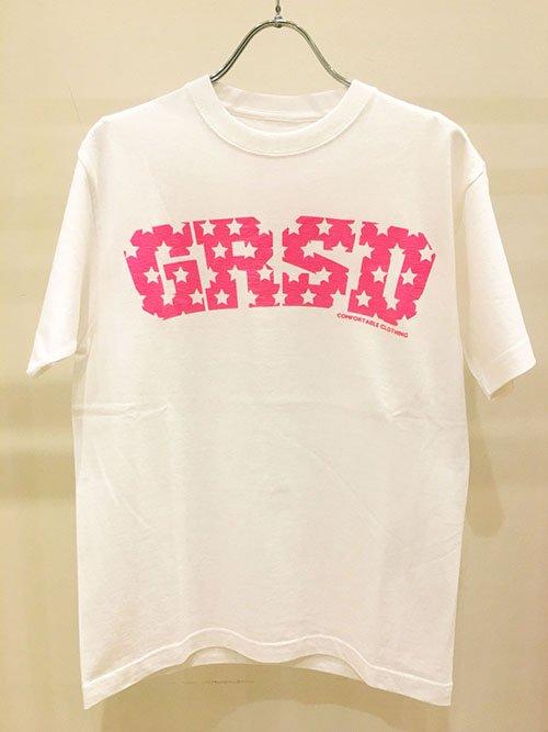 GROW RISE DESIGN スターロゴTシャツ(ピンク)