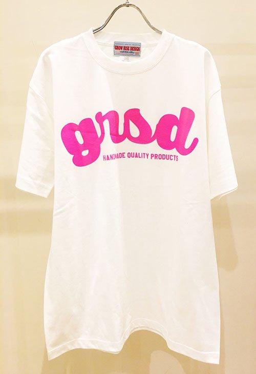 GROW RISE DESIGN ネオンロゴTシャツ(ピンク)