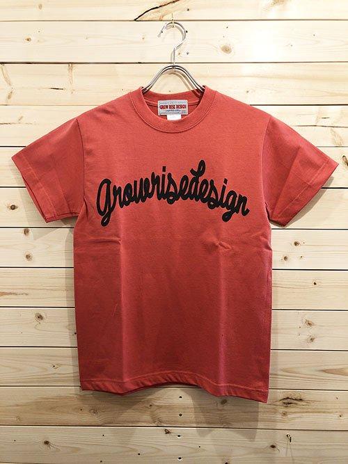 GROW RISE DESIGN アーチロゴTシャツ(フラミンゴピンク)