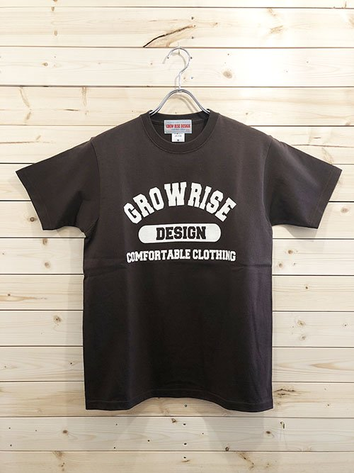<img class='new_mark_img1' src='https://img.shop-pro.jp/img/new/icons5.gif' style='border:none;display:inline;margin:0px;padding:0px;width:auto;' />GROW RISE DESIGN カレッジロゴTシャツ(ブラウン)