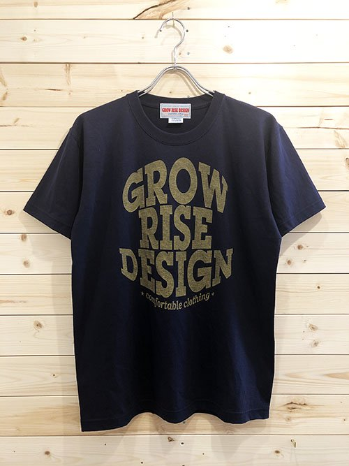 <img class='new_mark_img1' src='https://img.shop-pro.jp/img/new/icons5.gif' style='border:none;display:inline;margin:0px;padding:0px;width:auto;' />GROW RISE DESIGN ロゴTシャツ(ネイビー)