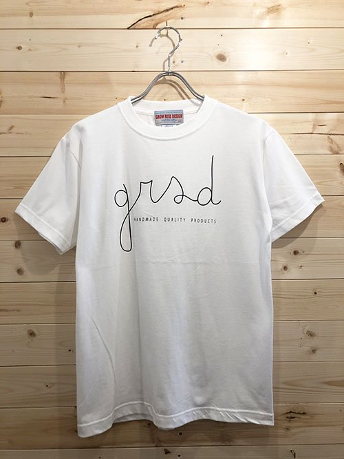 <img class='new_mark_img1' src='https://img.shop-pro.jp/img/new/icons5.gif' style='border:none;display:inline;margin:0px;padding:0px;width:auto;' />GROW RISE DESIGN grsdロゴTシャツ(ホワイト)