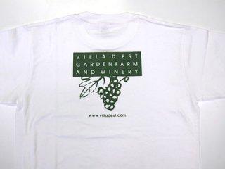 Tシャツ(ブドウロゴ・白)