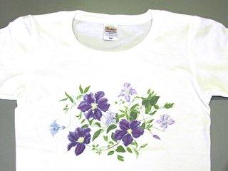 Tシャツ (紫のクレマチス)