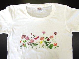 Tシャツ (赤い花)
