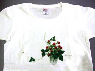 Tシャツ (グラスの野イチゴ)